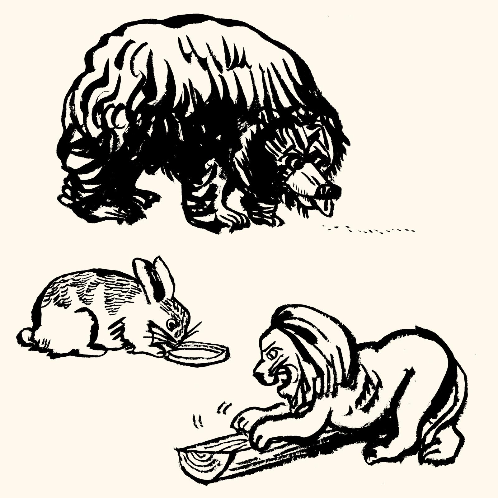 熊 うさぎ ライオン