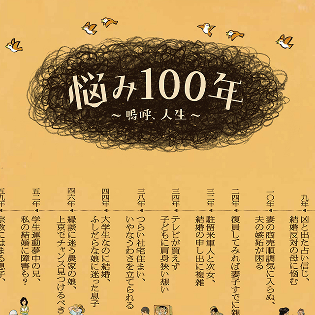 悩み100年〜嗚呼、人生〜 読売新聞ポスター